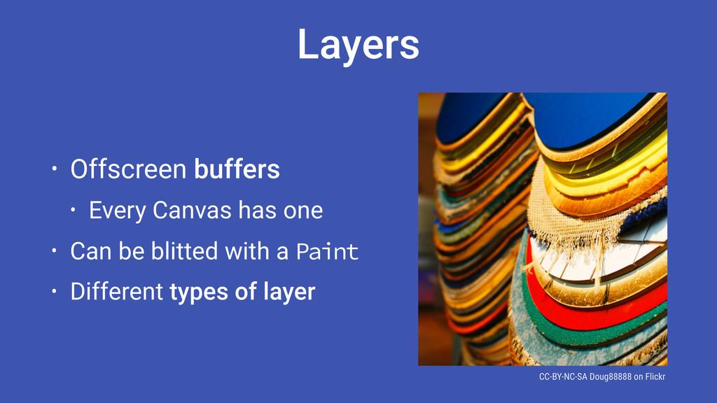 Layers • Offscreen buffers • Every Canvas has o...