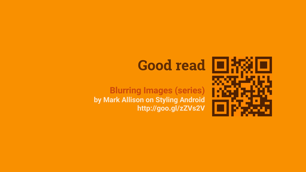 Good read Blurring Images (series) by Mark Alli...