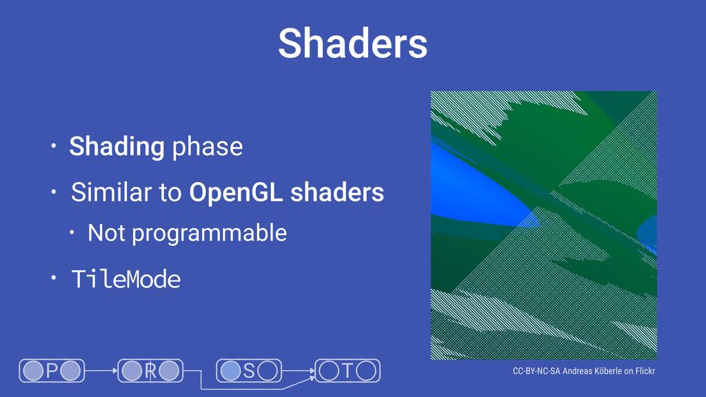 Shaders • Shading phase • Similar to OpenGL sha...
