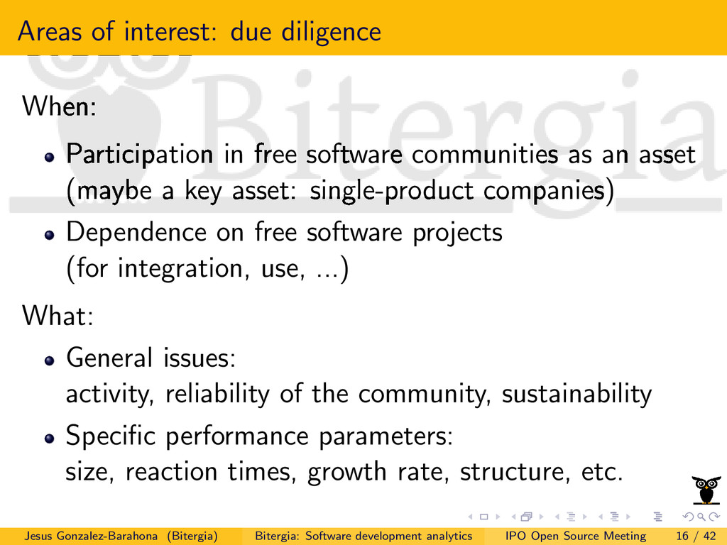 Areas of interest: due diligence When: Particip...