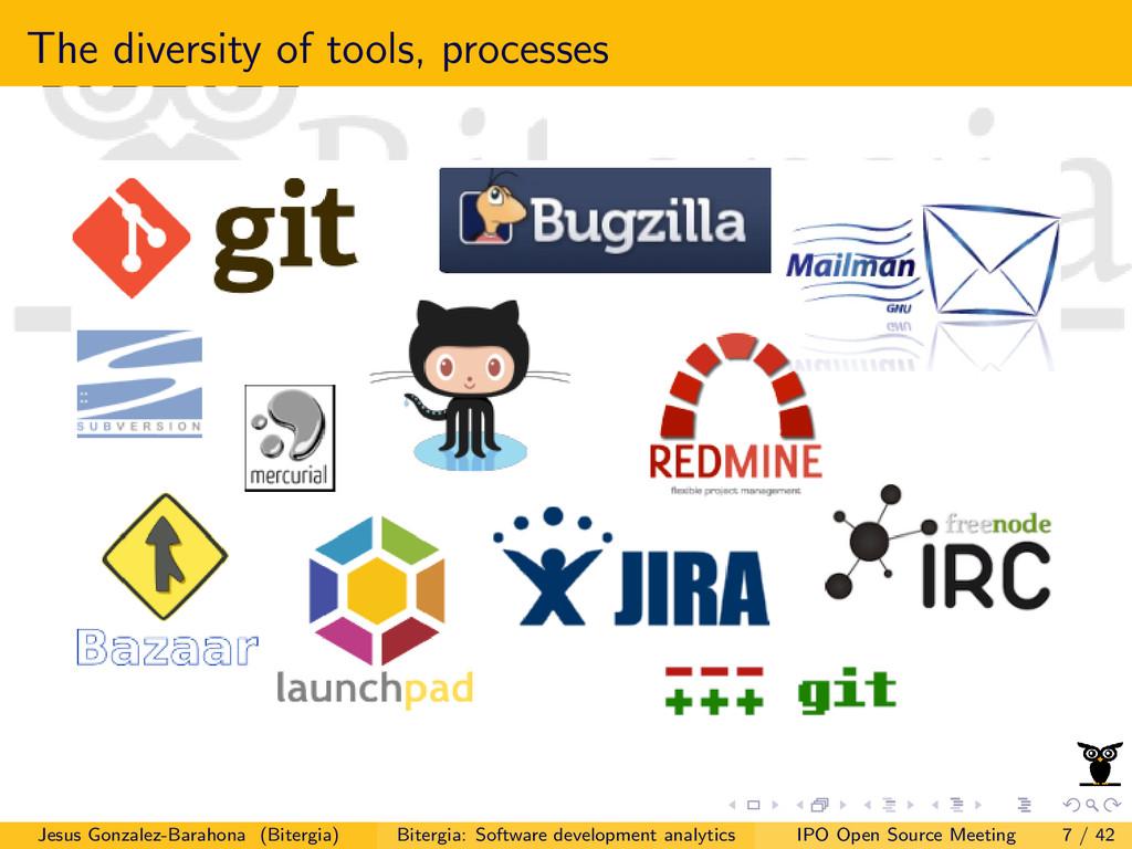 The diversity of tools, processes Jesus Gonzale...