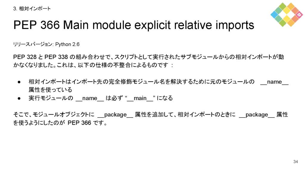 PEP 366 Main module explicit relative imports リ...