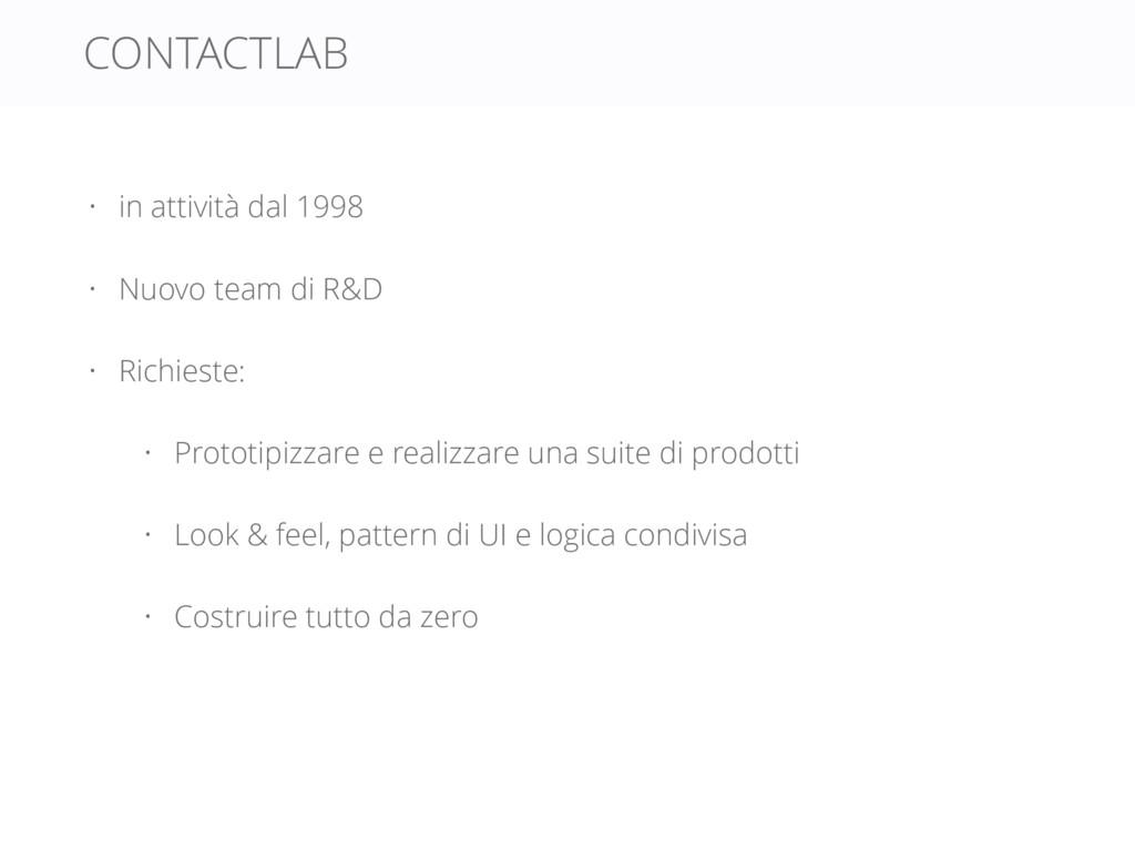 CONTACTLAB • in attività dal 1998 • Nuovo team ...