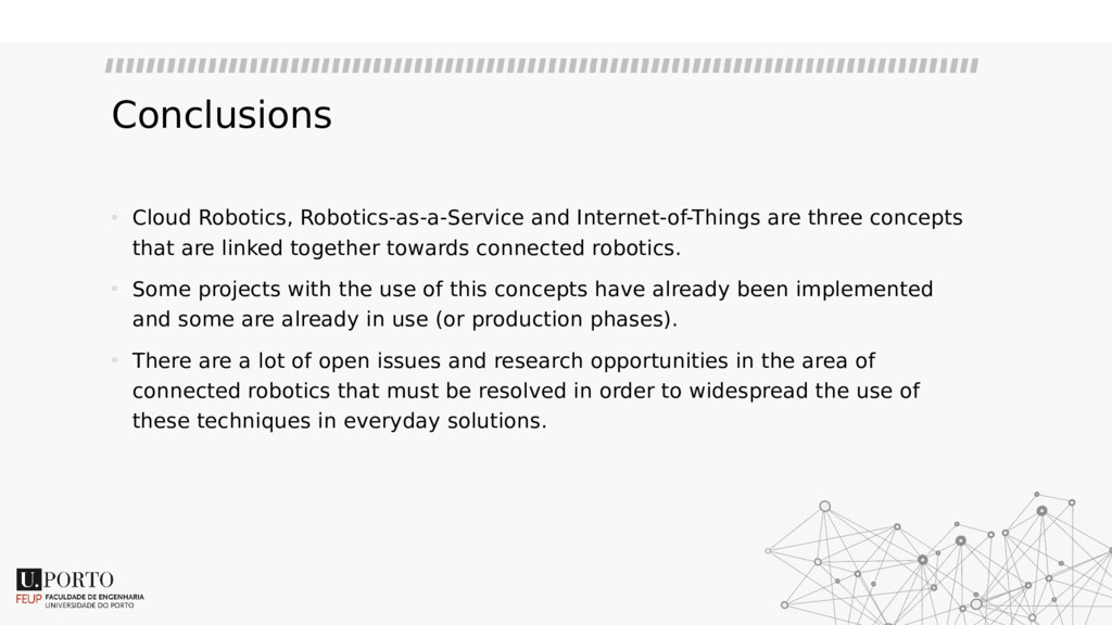 Conclusions • Cloud Robotics, Robotics-as-a-Ser...