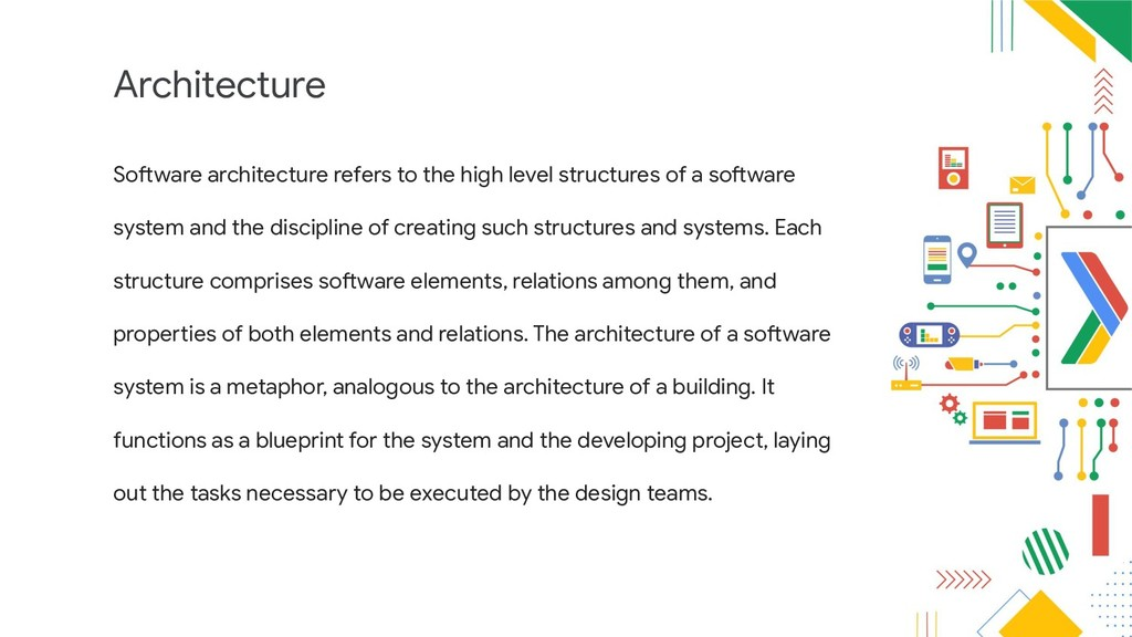 Architecture Software architecture refers to th...
