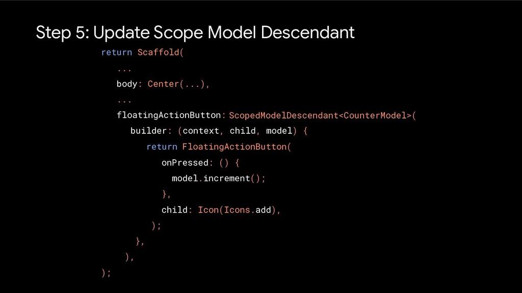 Step 5: Update Scope Model Descendant return Sc...