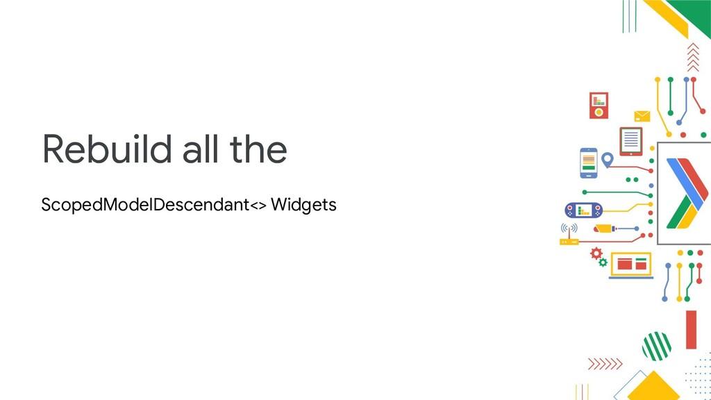 Rebuild all the ScopedModelDescendant<> Widgets