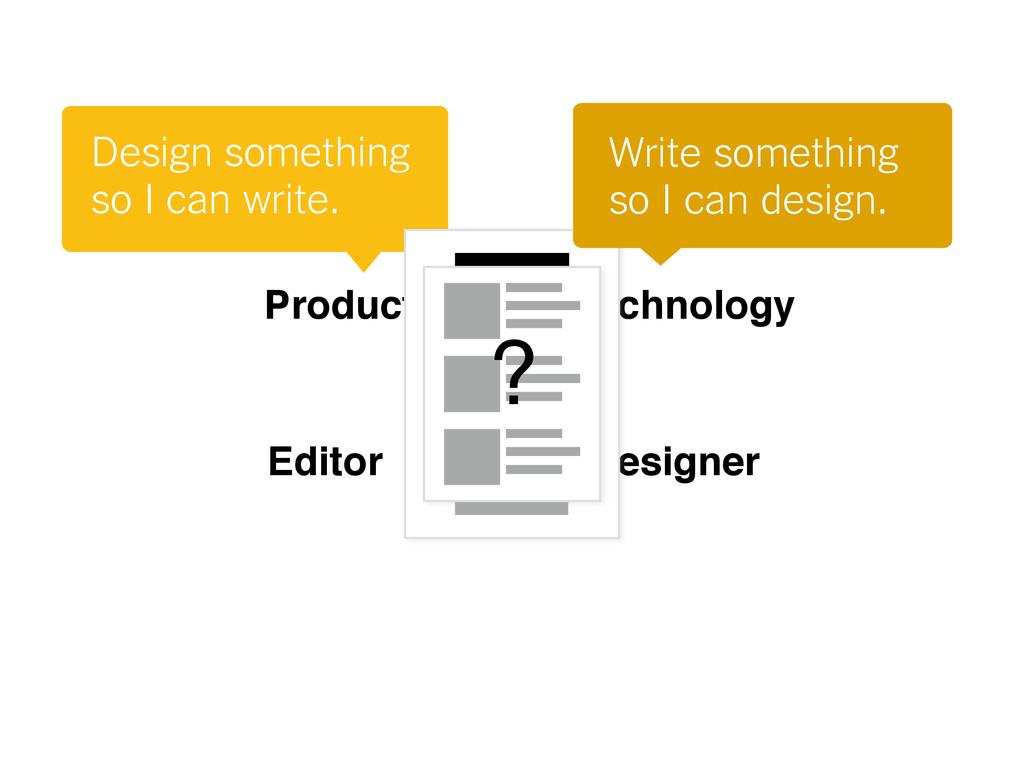 Design something so I can write. Designer Edito...