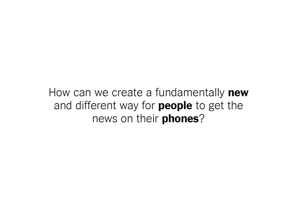 How can we create a fundamentally new and diffe...