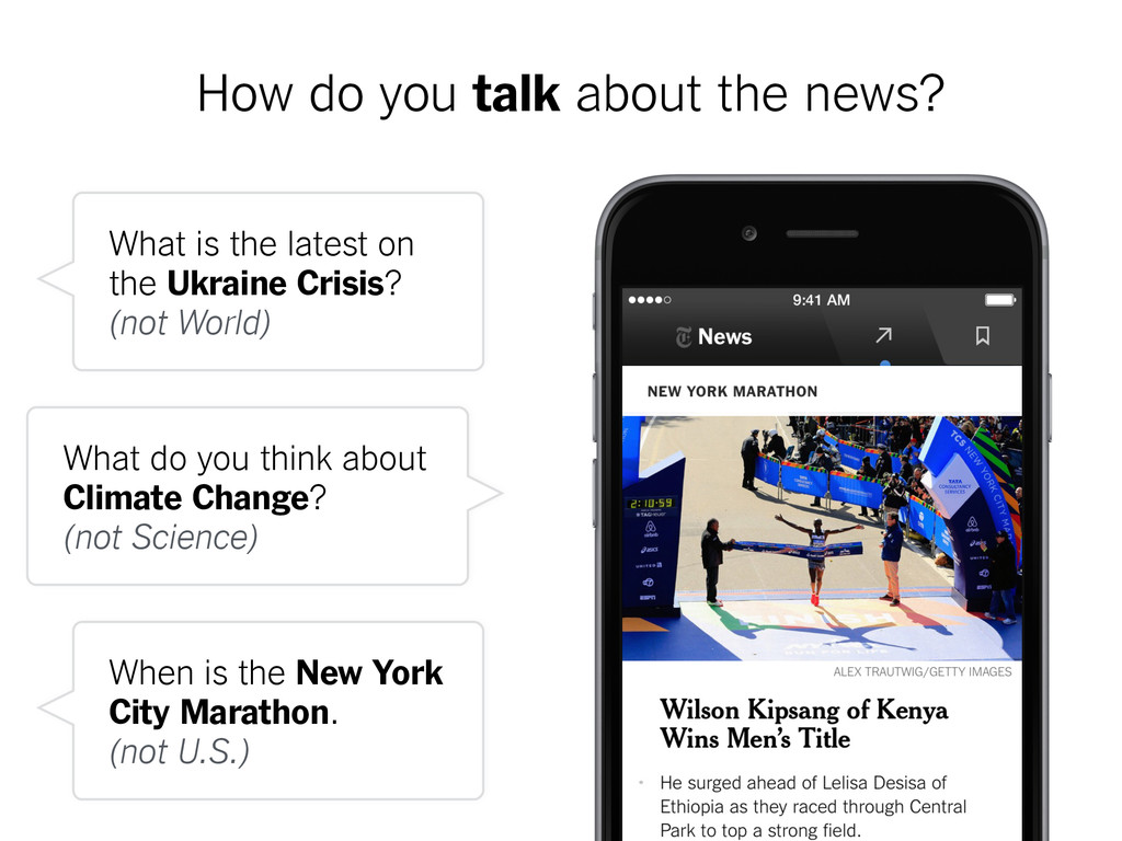 How do you talk about the news? What is the lat...
