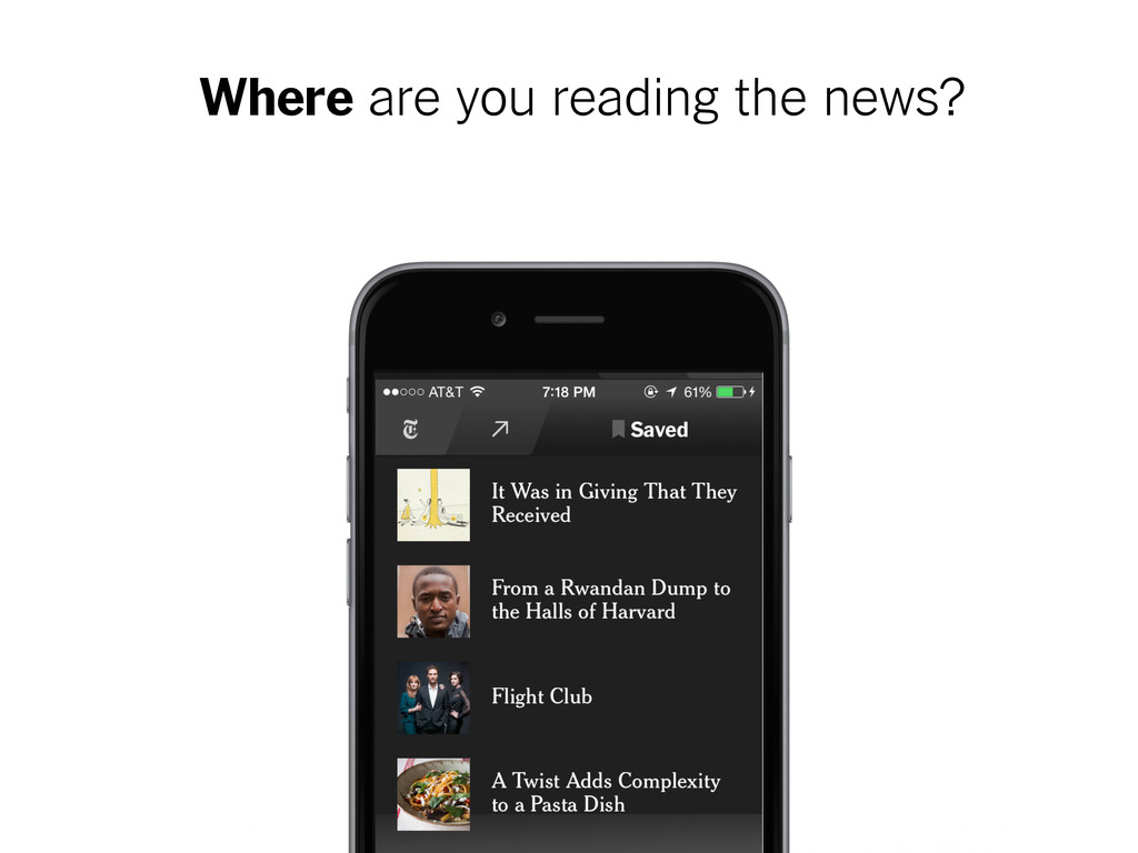 Where are you reading the news?