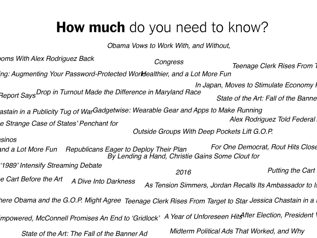 How much do you need to know? Obama Vows to Wor...