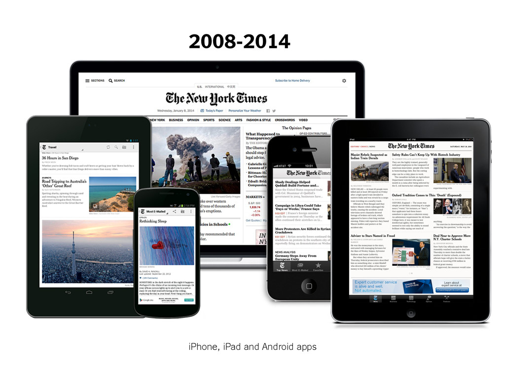 2008-2014 iPhone, iPad and Android apps