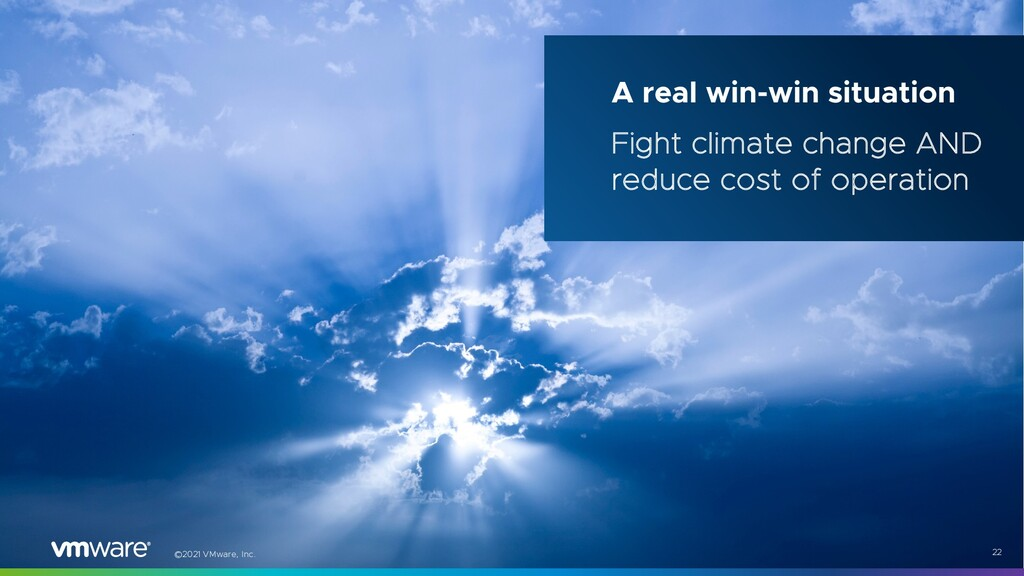 ©2021 VMware, Inc. 22 A real win-win situation ...