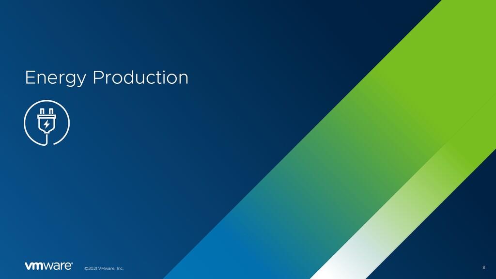 8 ©2021 VMware, Inc. Energy Production