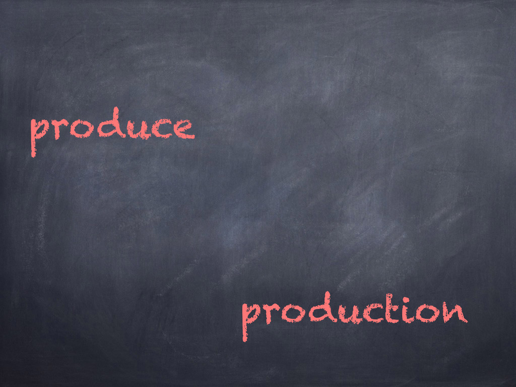 produce production