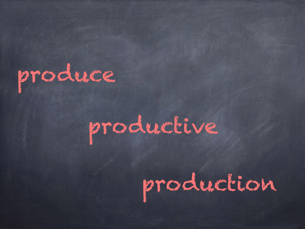 produce production productive