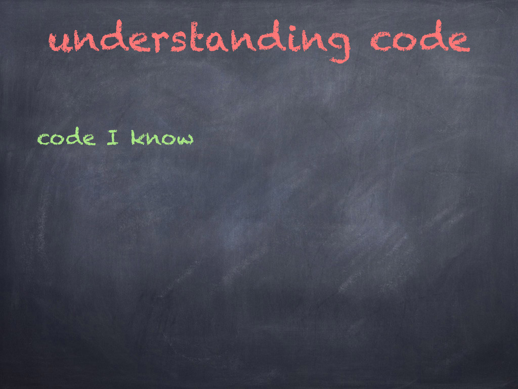 understanding code code I know