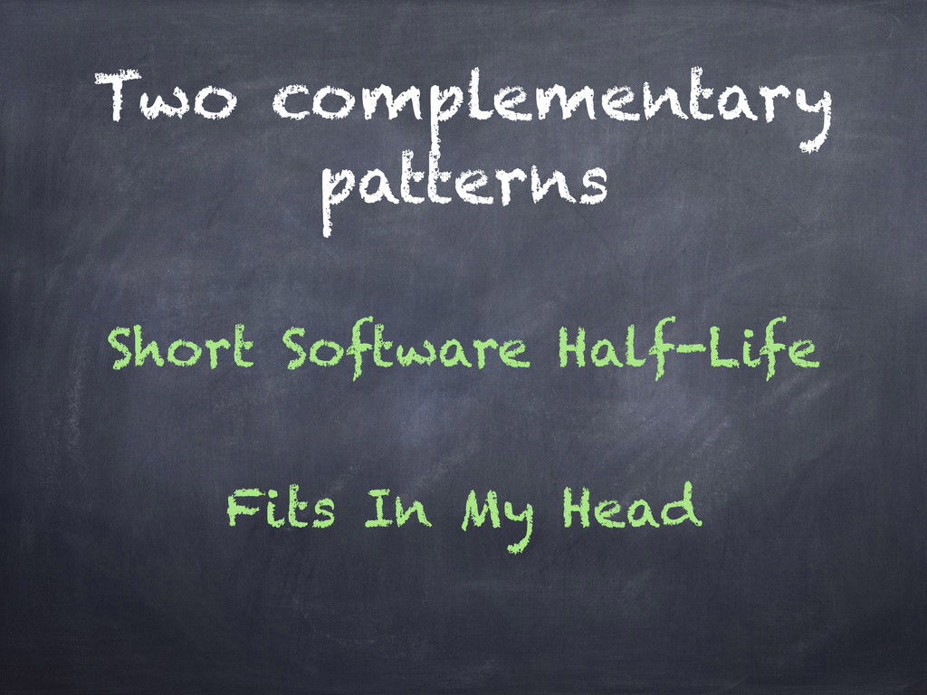 Two complementary patterns Short Software Half-...