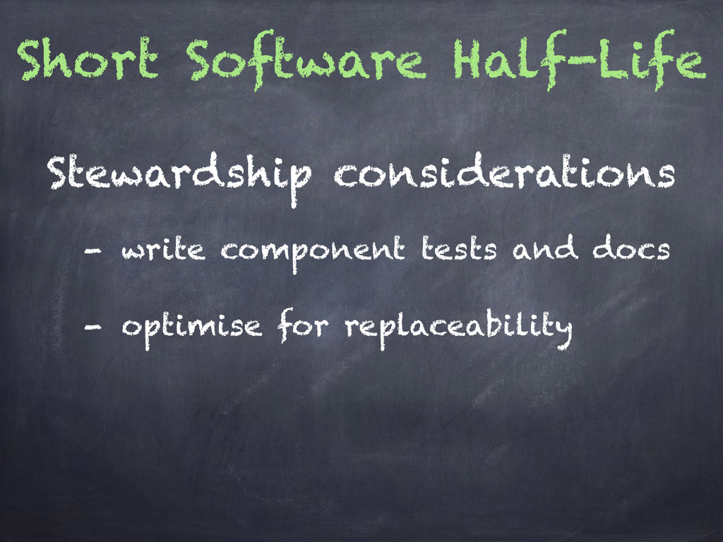 Short Software Half-Life - write component test...