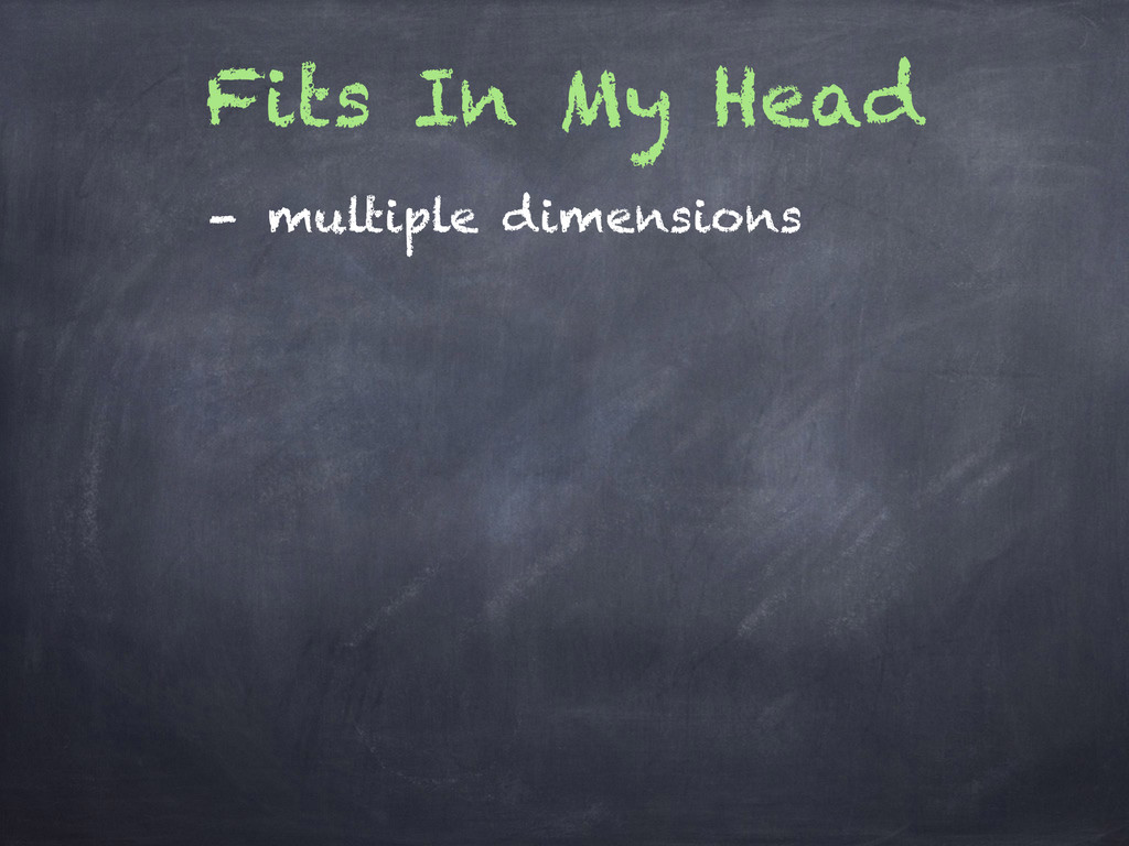 Fits In My Head - multiple dimensions
