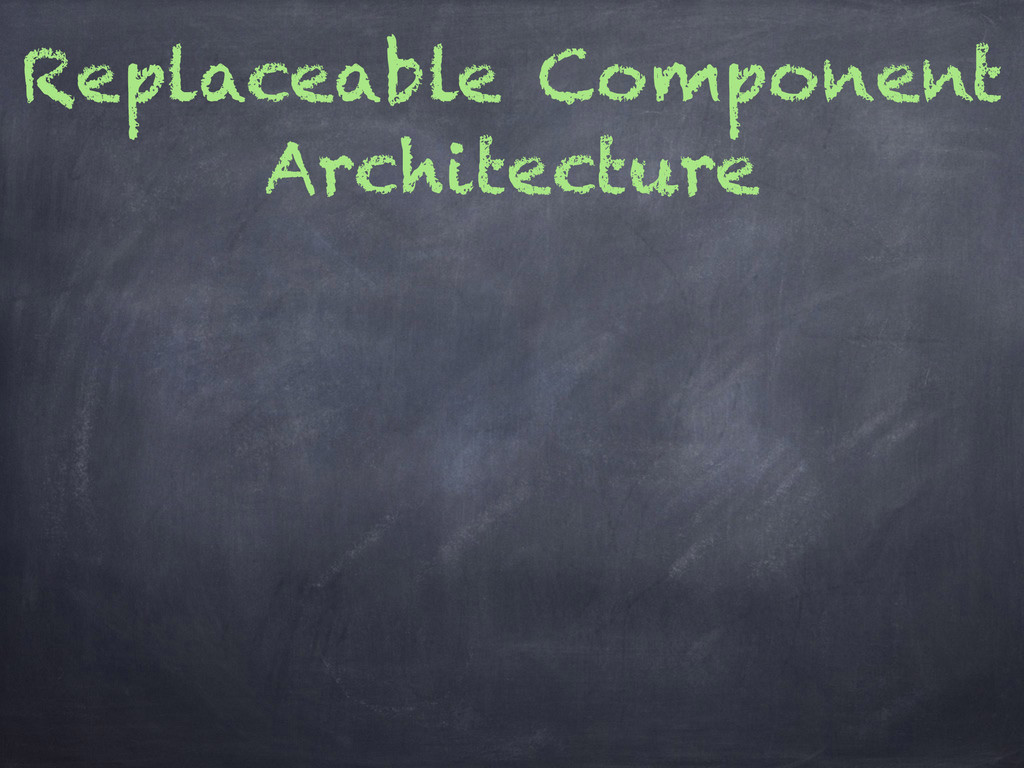 Replaceable Component Architecture