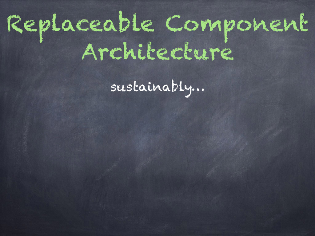 Replaceable Component Architecture sustainably…