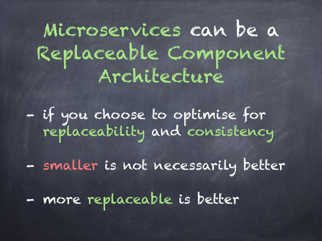 Microservices can be a Replaceable Component Ar...