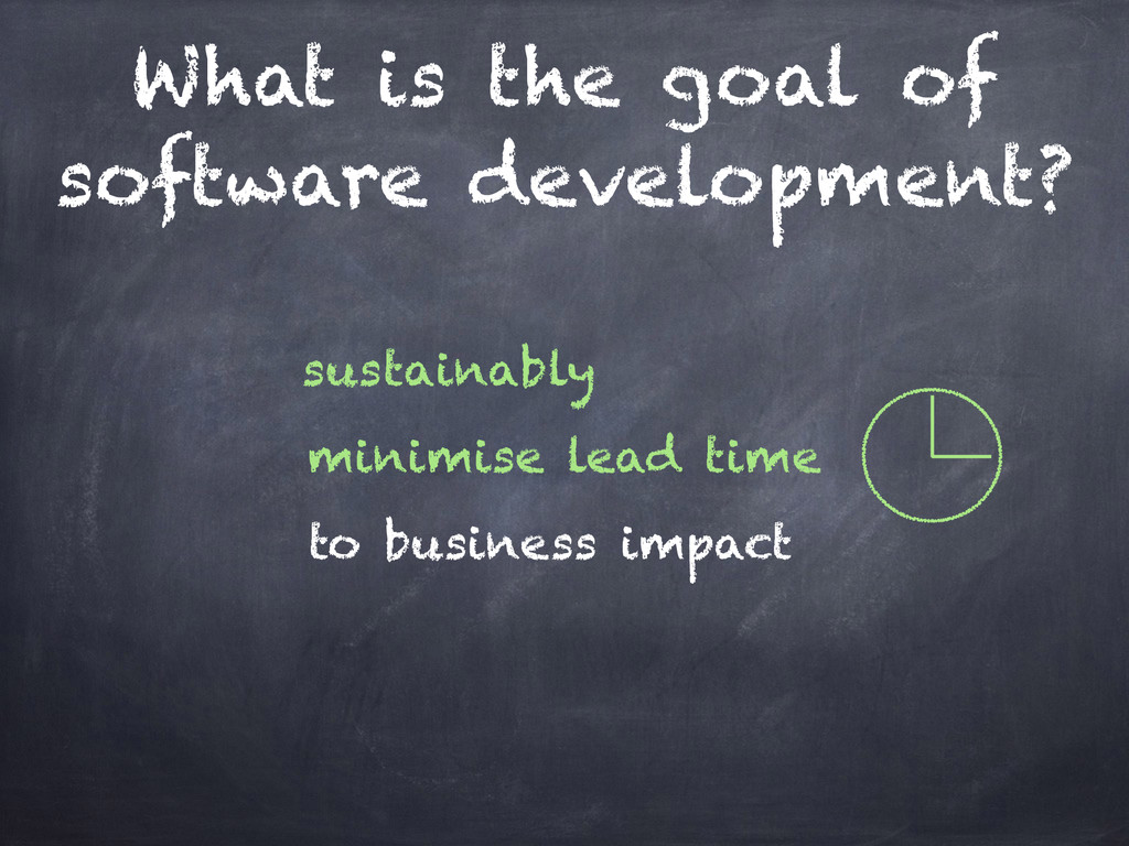 What is the goal of software development? to bu...