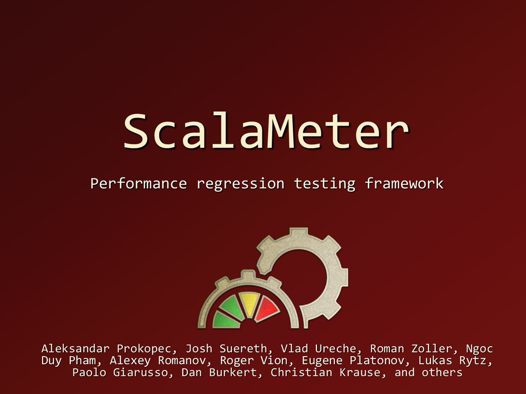ScalaMeter Performance regression testing frame...