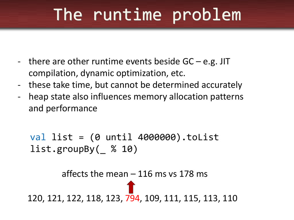 The runtime problem - there are other runtime e...