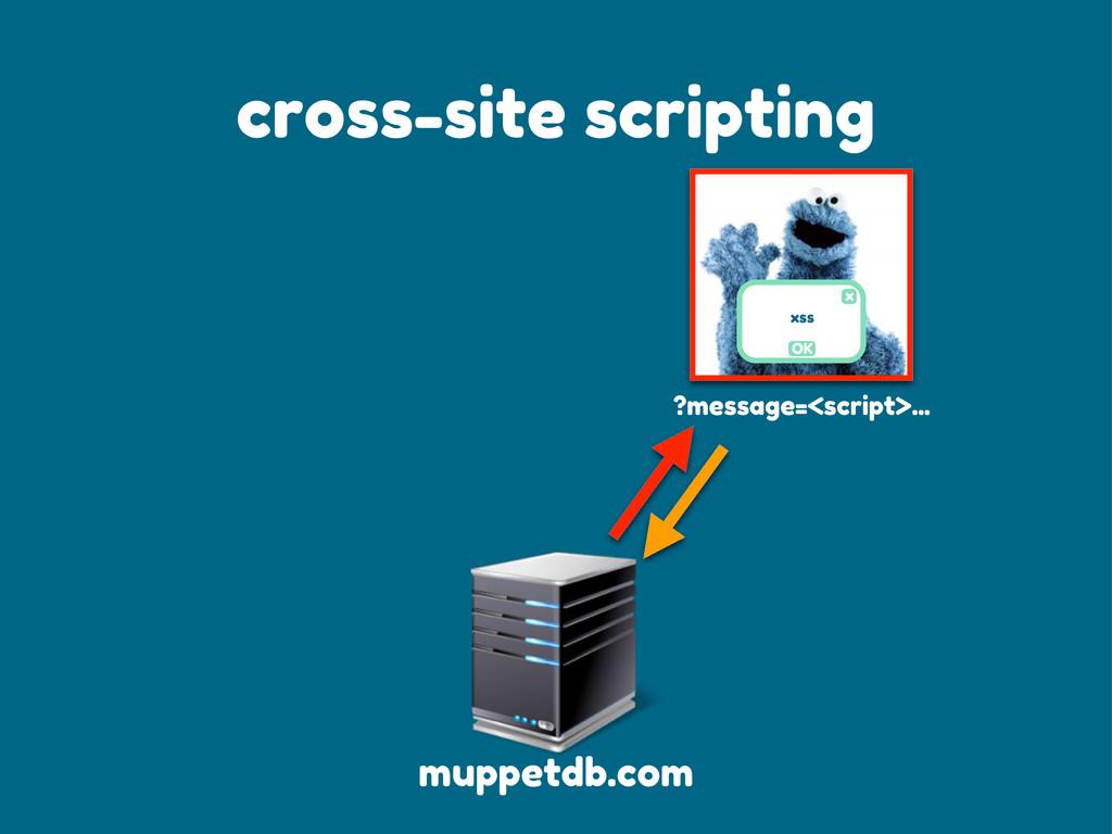 ?message=<script>... x OK xss cross-site script...