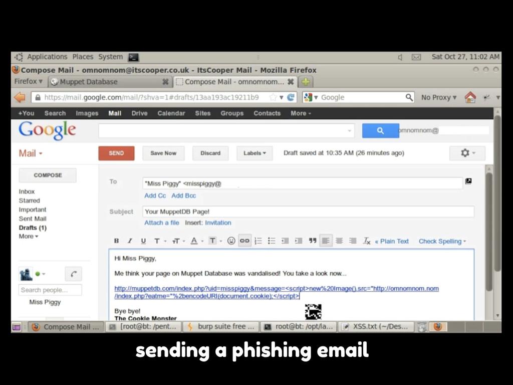 sending a phishing email