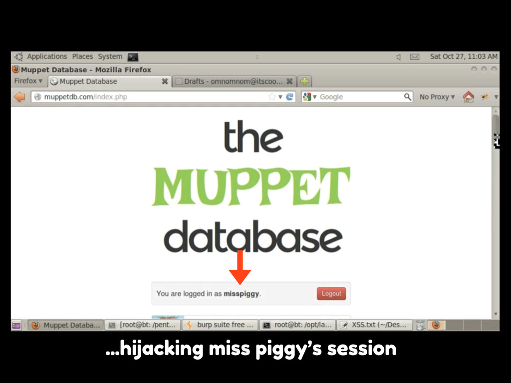 ...hijacking miss piggy's session