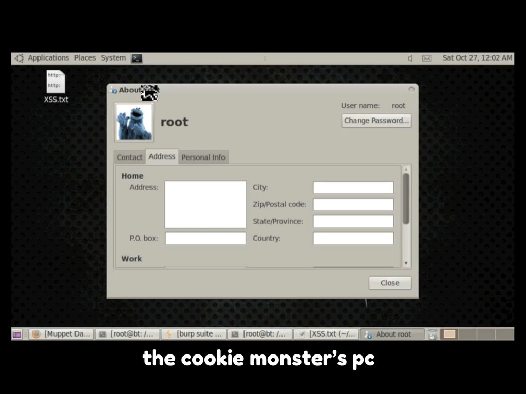 the cookie monster's pc