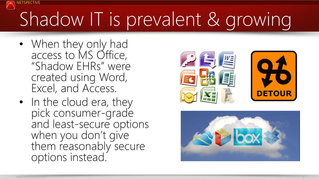 NETSPECTIVE www.netspective.com 9 Shadow IT is ...