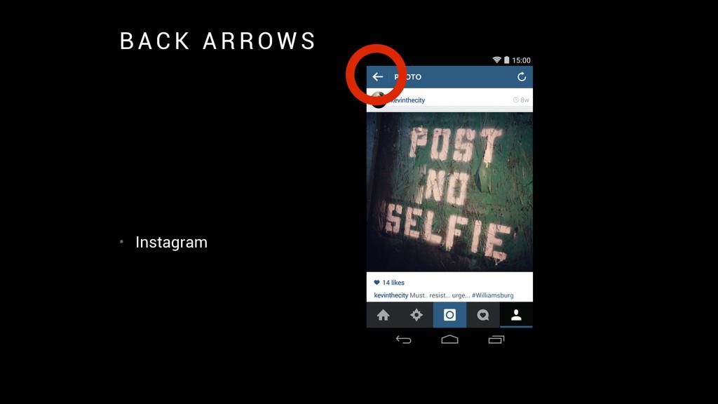 B A C K A R R O W S • Instagram