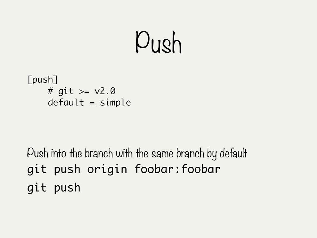 Push git push origin foobar:foobar Push into th...