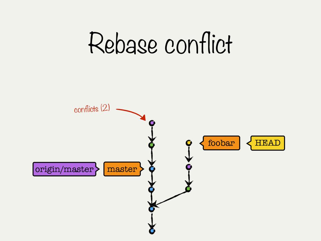Rebase conflict HEAD master foobar conflicts (2...