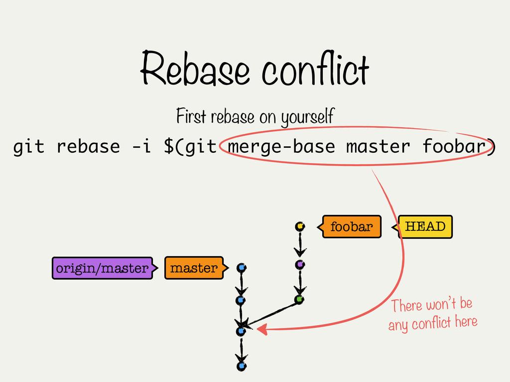 Rebase conflict HEAD master foobar git rebase -...