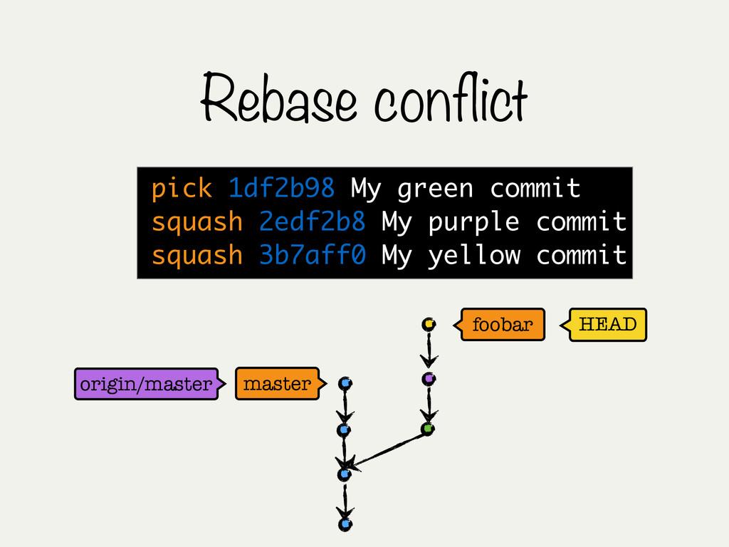 Rebase conflict HEAD master foobar origin/maste...