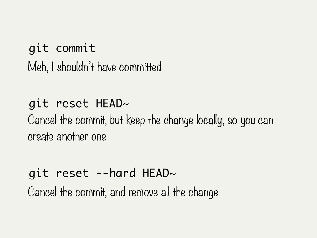 git commit Meh, I shouldn't have committed git ...