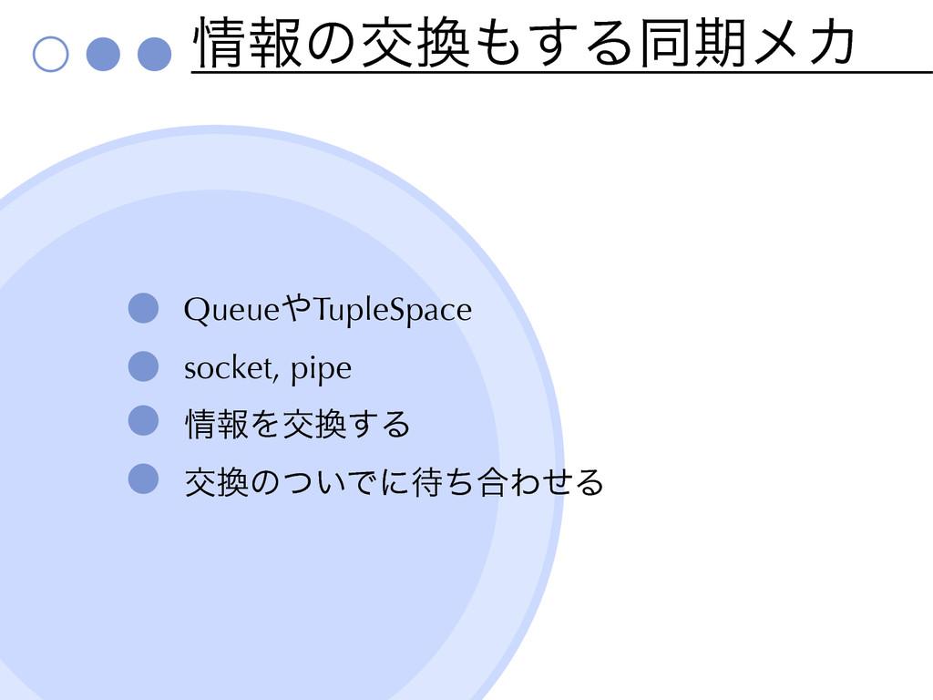 ใͷަ͢ΔಉظϝΧ QueueTupleSpace socket, pipe ใΛަ...