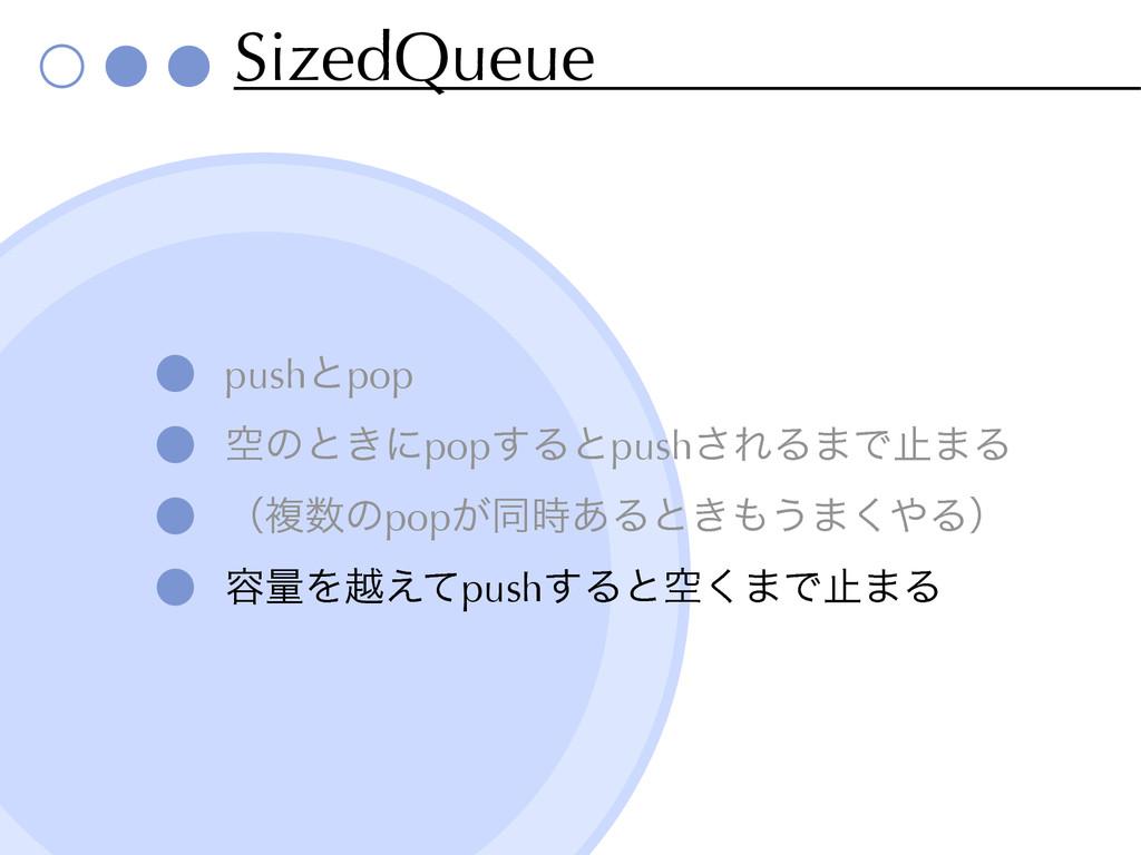 SizedQueue pushͱpop ۭͷͱ͖ʹpop͢Δͱpush͞ΕΔ·Ͱࢭ·Δ ʢෳ...
