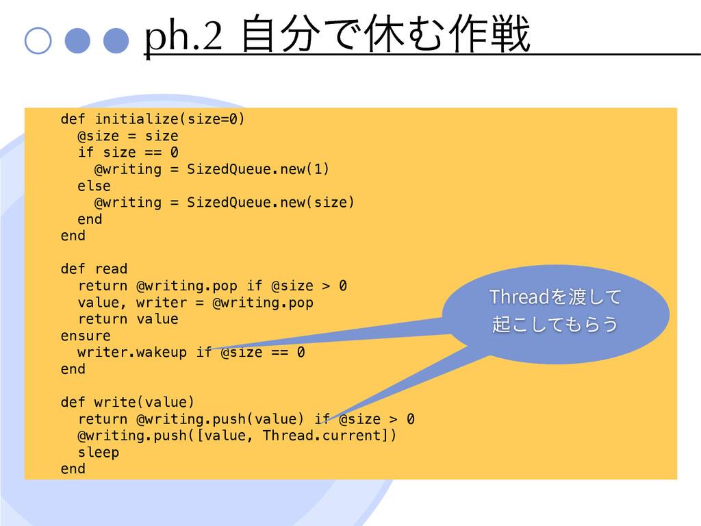ph.2 ࣗͰٳΉ࡞ઓ def initialize(size=0) @size = siz...