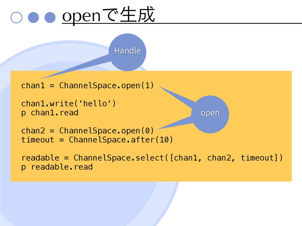 openͰੜ chan1 = ChannelSpace.open(1) chan1.writ...