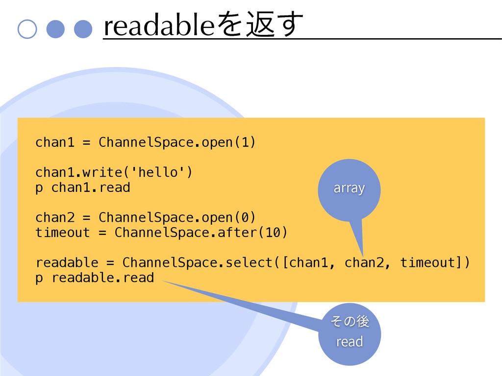 readableΛฦ͢ chan1 = ChannelSpace.open(1) chan1....