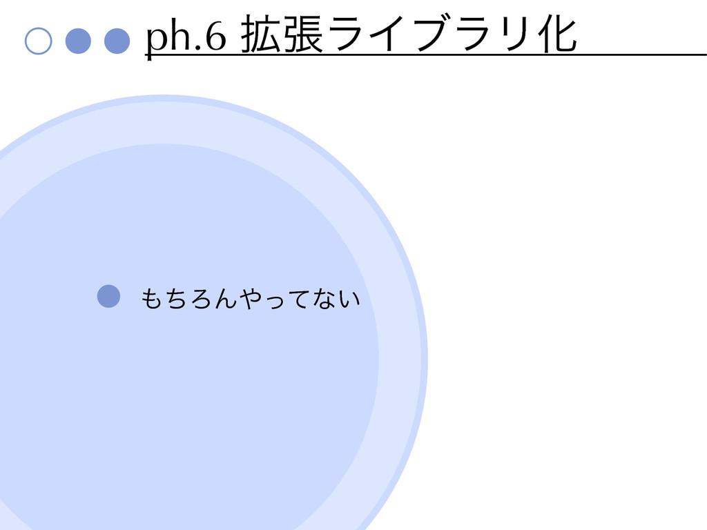ph.6 ֦ுϥΠϒϥϦԽ ͪΖΜͬͯͳ͍