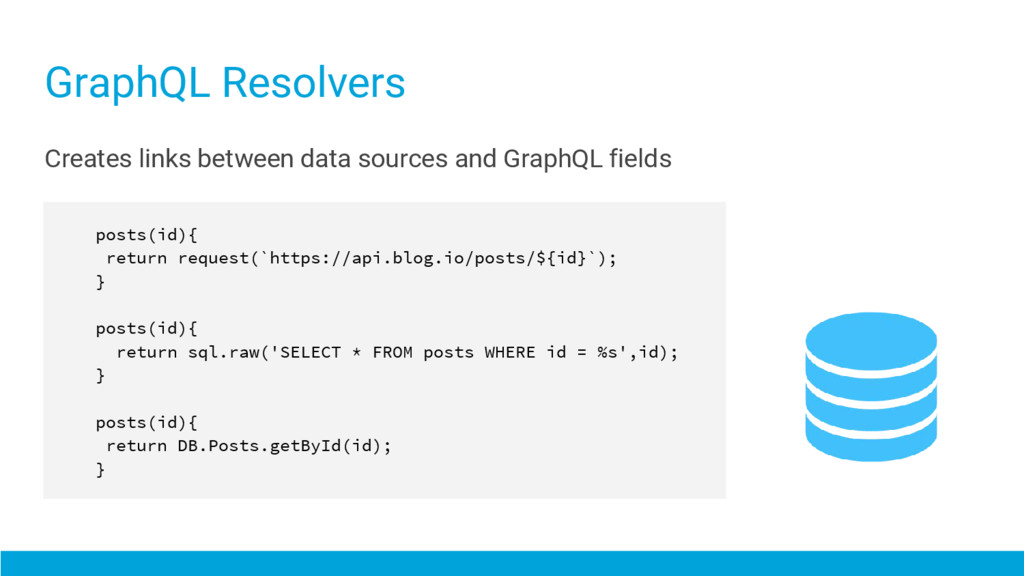 Creates links between data sources and GraphQL ...