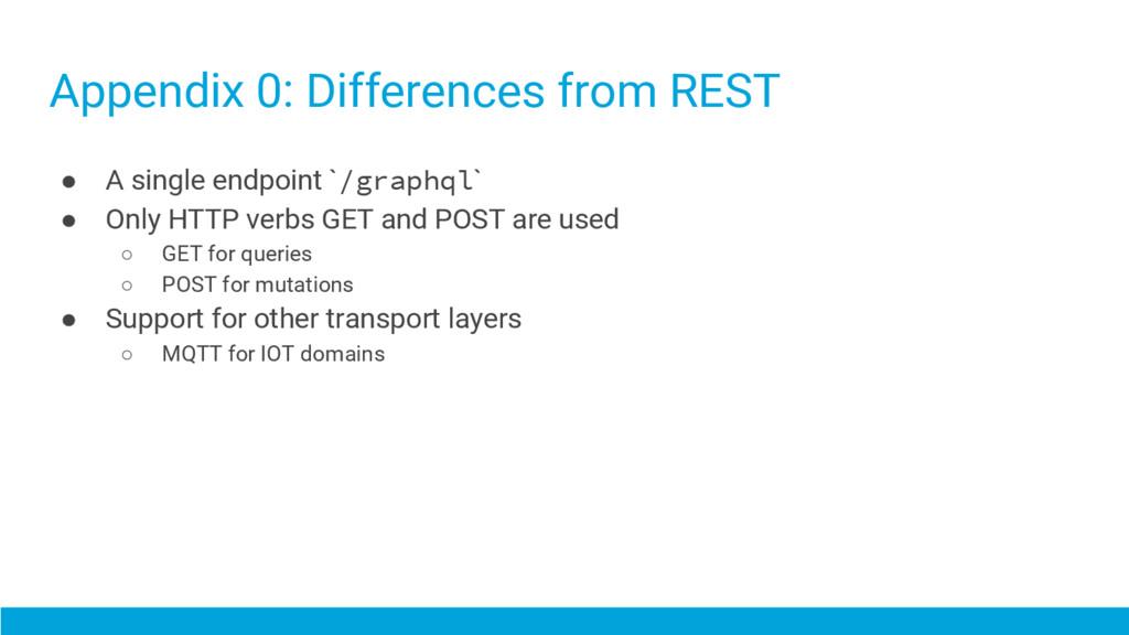Appendix 0: Differences from REST ● A single en...